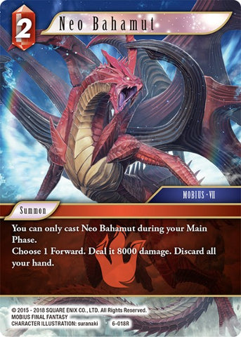 6-018R Neo Bahamut - Trading Card