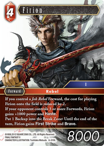 6-019L Firion - Trading Card