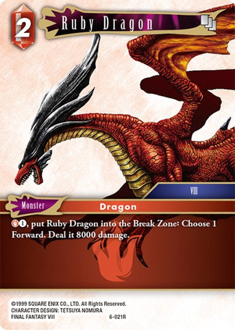 6-021R Ruby Dragon - Trading Card