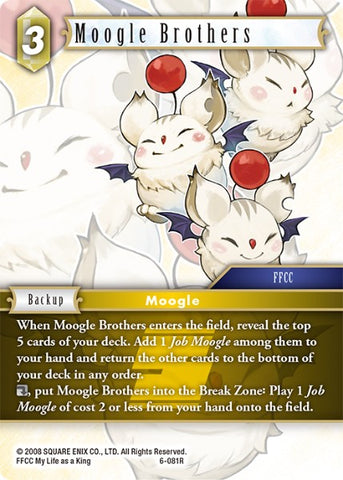 6-081R Moogle Brothers - Trading Card