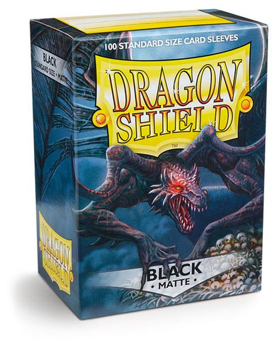 Matte Black Dragon Shield 100ct Box Deck Protector