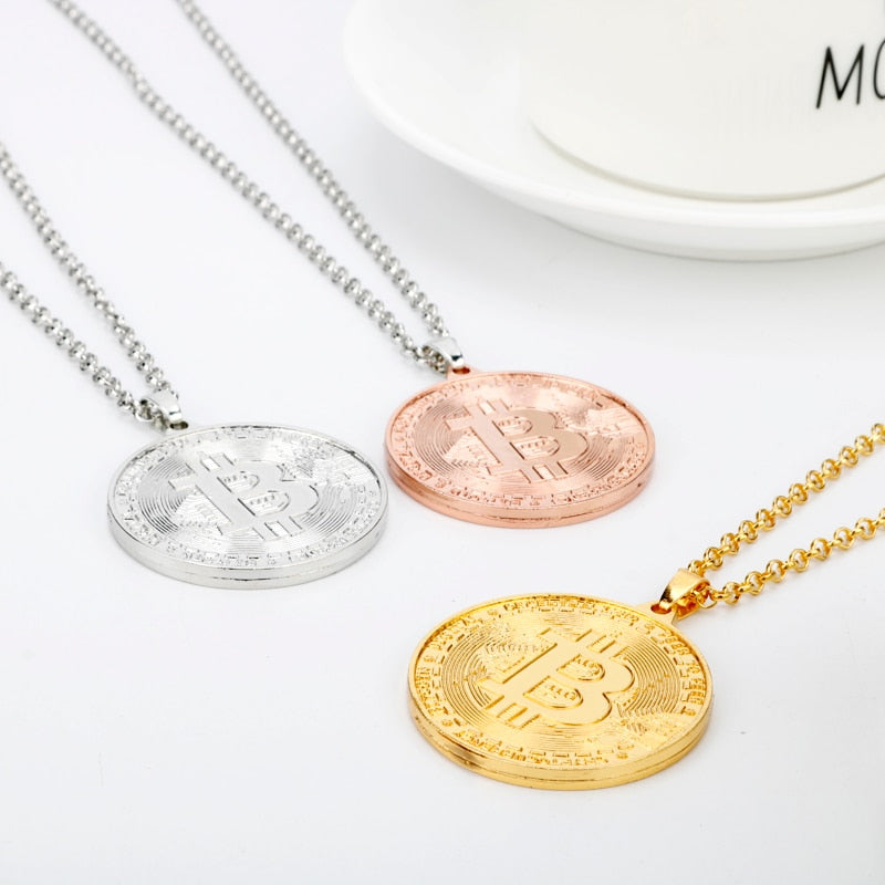 Bitcoin Necklace Unisex