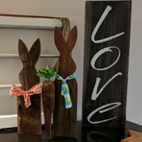Bunny & Carrot Trio in Wood Tone - Graceful Journey Co. Sagewood Sign Co unique gift idea, barn board signs, jewelry, mom essentials, farmhouse style, simplify your life, Premier Designs