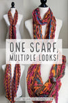 Multi-wear Lightweight Infinity Scarf in Orangeish - Graceful Journey Co. Made by MAM unique gift idea, barn board signs, jewelry, mom essentials, farmhouse style, simplify your life, Premier Designs