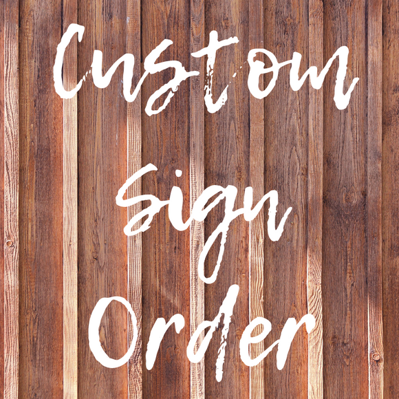 Custom Sign Order - Graceful Journey Co. Sagewood Sign Co unique gift idea, barn board signs, jewelry, mom essentials, farmhouse style, simplify your life, Premier Designs