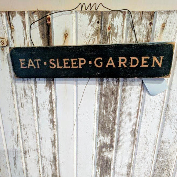 Eat Sleep Garden - Graceful Journey Co. Sagewood Sign Co unique gift idea, barn board signs, jewelry, mom essentials, farmhouse style, simplify your life, Premier Designs