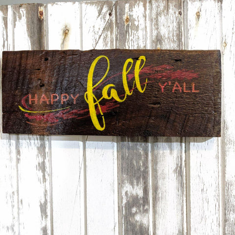 Happy Fall - Graceful Journey Co. Sagewood Sign Co unique gift idea, barn board signs, jewelry, mom essentials, farmhouse style, simplify your life, Premier Designs