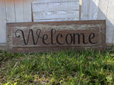 Embrace the Chaos/Welcome Shelf Sitter - Graceful Journey Co. Sagewood Sign Co unique gift idea, barn board signs, jewelry, mom essentials, farmhouse style, simplify your life, Premier Designs