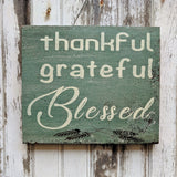 Thankful Grateful Blessed - Graceful Journey Co. Graceful Journey Co. unique gift idea, barn board signs, jewelry, mom essentials, farmhouse style, simplify your life, Premier Designs