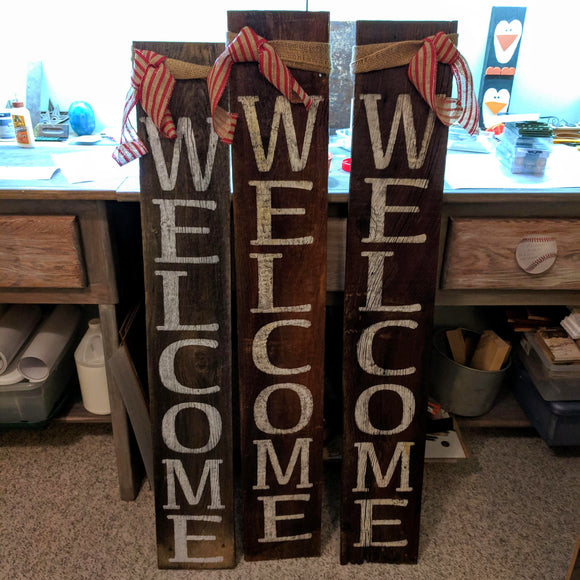 Winter Welcome - Graceful Journey Co. Sagewood Sign Co unique gift idea, barn board signs, jewelry, mom essentials, farmhouse style, simplify your life, Premier Designs