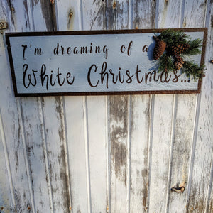 Dreaming of a White Christmas - Graceful Journey Co. Sagewood Sign Co unique gift idea, barn board signs, jewelry, mom essentials, farmhouse style, simplify your life, Premier Designs