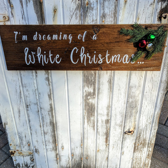 White Christmas - Graceful Journey Co. Sagewood Sign Co unique gift idea, barn board signs, jewelry, mom essentials, farmhouse style, simplify your life, Premier Designs