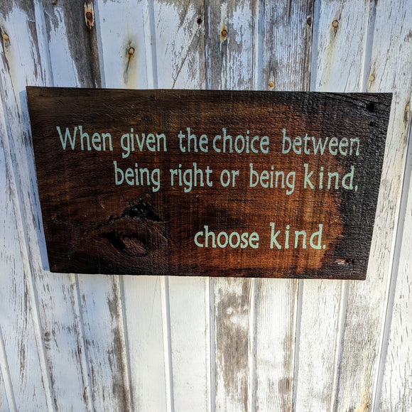 Choose Kind - Graceful Journey Co. Sagewood Sign Co unique gift idea, barn board signs, jewelry, mom essentials, farmhouse style, simplify your life, Premier Designs