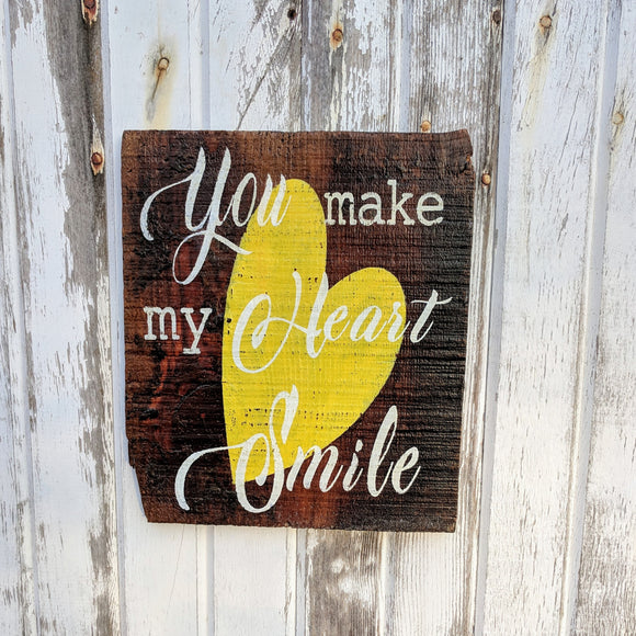 You Make My Heart Smile - Graceful Journey Co. Sagewood Sign Co unique gift idea, barn board signs, jewelry, mom essentials, farmhouse style, simplify your life, Premier Designs