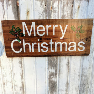 Merry Holly Christmas - Graceful Journey Co. Sagewood Sign Co unique gift idea, barn board signs, jewelry, mom essentials, farmhouse style, simplify your life, Premier Designs
