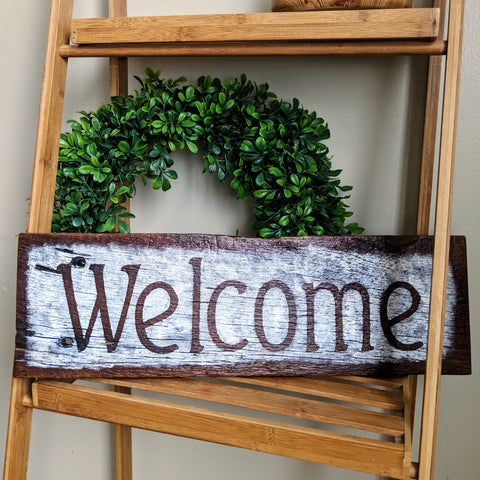 Farmhouse Welcome - Graceful Journey Co. Sagewood Sign Co unique gift idea, barn board signs, jewelry, mom essentials, farmhouse style, simplify your life, Premier Designs