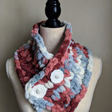 Cowl Scarf in Dusty Rose Variegated - Graceful Journey Co. Made by MAM unique gift idea, barn board signs, jewelry, mom essentials, farmhouse style, simplify your life, Premier Designs