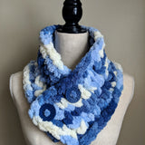 Cowl Scarf in Blue Variegated - Graceful Journey Co. Made by MAM unique gift idea, barn board signs, jewelry, mom essentials, farmhouse style, simplify your life, Premier Designs