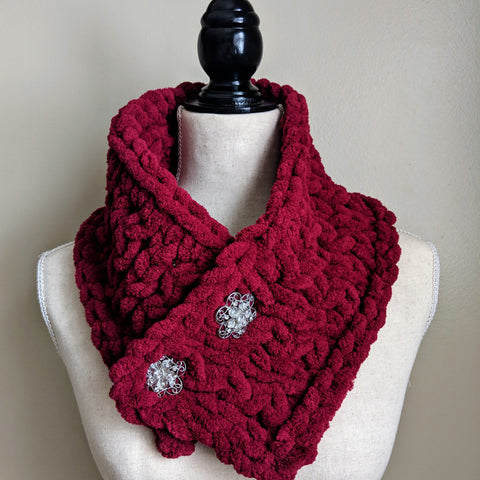 Cowl Scarf in Wine - Graceful Journey Co. Made by MAM unique gift idea, barn board signs, jewelry, mom essentials, farmhouse style, simplify your life, Premier Designs