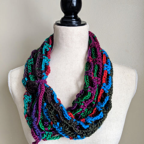 Multi-wear Lightweight Infinity Scarf in Bright - Graceful Journey Co. Made by MAM unique gift idea, barn board signs, jewelry, mom essentials, farmhouse style, simplify your life, Premier Designs