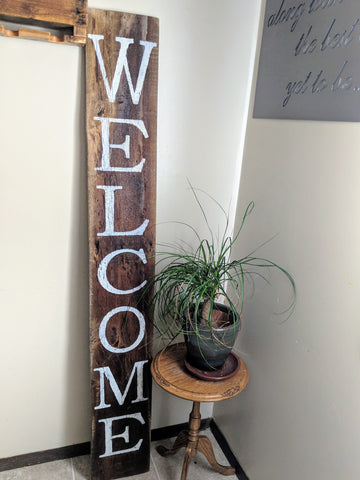 6' Welcome Porch Sign - Graceful Journey Co. Sagewood Sign Co unique gift idea, barn board signs, jewelry, mom essentials, farmhouse style, simplify your life, Premier Designs