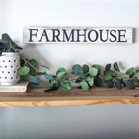 Farmhouse in White - Graceful Journey Co. Sagewood Sign Co unique gift idea, barn board signs, jewelry, mom essentials, farmhouse style, simplify your life, Premier Designs