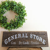 General Store in white - Graceful Journey Co. Sagewood Sign Co unique gift idea, barn board signs, jewelry, mom essentials, farmhouse style, simplify your life, Premier Designs