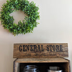 General Store in black - Graceful Journey Co. Sagewood Sign Co unique gift idea, barn board signs, jewelry, mom essentials, farmhouse style, simplify your life, Premier Designs