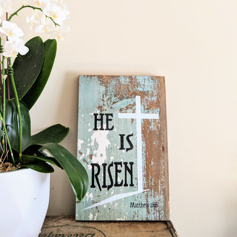 He is Risen - Graceful Journey Co. Sagewood Sign Co unique gift idea, barn board signs, jewelry, mom essentials, farmhouse style, simplify your life, Premier Designs