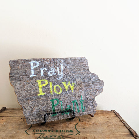 Iowa Pray Plow Plant - Graceful Journey Co. Sagewood Sign Co unique gift idea, barn board signs, jewelry, mom essentials, farmhouse style, simplify your life, Premier Designs