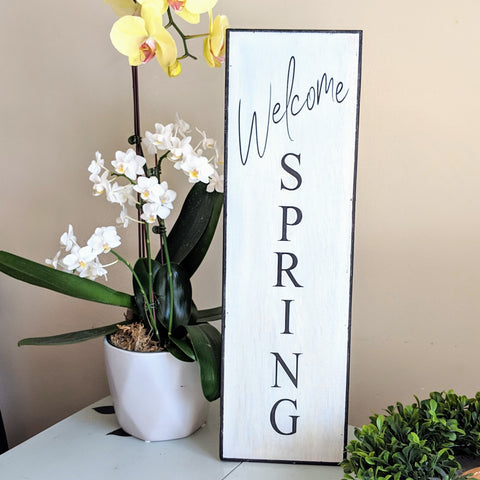 Welcome Spring/Hello Summer - Graceful Journey Co. Sagewood Sign Co unique gift idea, barn board signs, jewelry, mom essentials, farmhouse style, simplify your life, Premier Designs