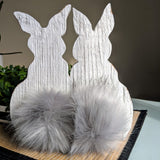 Fluffy Bunnies in white - Graceful Journey Co. Sagewood Sign Co unique gift idea, barn board signs, jewelry, mom essentials, farmhouse style, simplify your life, Premier Designs