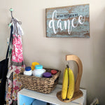 In This Kitchen We Dance - Graceful Journey Co. Sagewood Sign Co unique gift idea, barn board signs, jewelry, mom essentials, farmhouse style, simplify your life, Premier Designs
