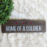 Home of a Solider - Graceful Journey Co. Sagewood Sign Co unique gift idea, barn board signs, jewelry, mom essentials, farmhouse style, simplify your life, Premier Designs
