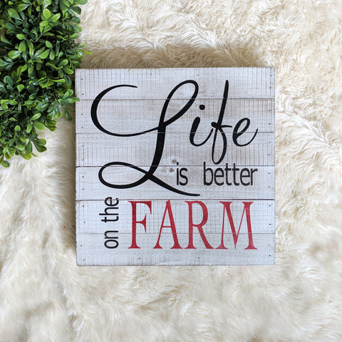 Life is Better on the Farm - Graceful Journey Co. Sagewood Sign Co unique gift idea, barn board signs, jewelry, mom essentials, farmhouse style, simplify your life, Premier Designs