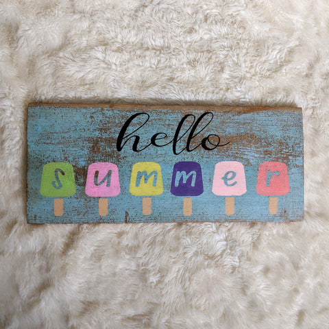 Hello Summer - Graceful Journey Co. Sagewood Sign Co unique gift idea, barn board signs, jewelry, mom essentials, farmhouse style, simplify your life, Premier Designs