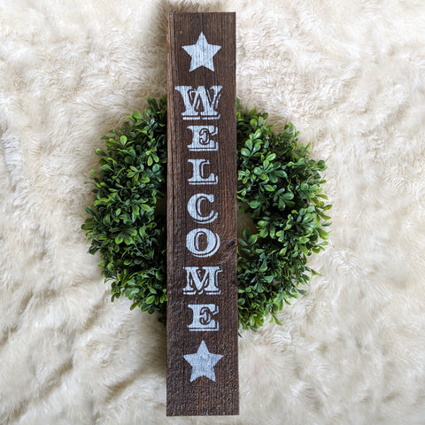 Welcome Star in Natural Wood - Graceful Journey Co. Sagewood Sign Co unique gift idea, barn board signs, jewelry, mom essentials, farmhouse style, simplify your life, Premier Designs