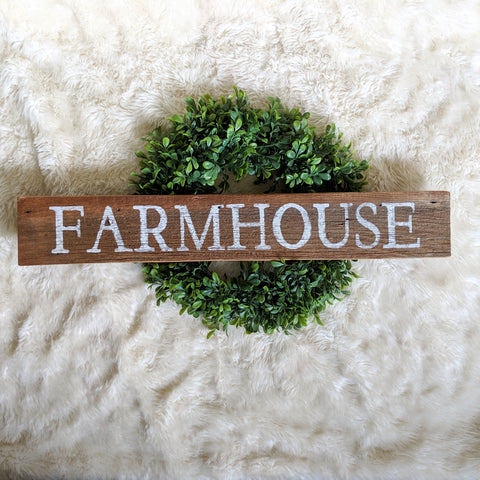 Farmhouse in Natural Wood - Graceful Journey Co. Sagewood Sign Co unique gift idea, barn board signs, jewelry, mom essentials, farmhouse style, simplify your life, Premier Designs