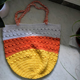 Carryall Bag in Candy Corn - Graceful Journey Co. Made by MAM unique gift idea, barn board signs, jewelry, mom essentials, farmhouse style, simplify your life, Premier Designs