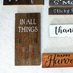 In All Things Give Thanks - Graceful Journey Co. Sagewood Sign Co unique gift idea, barn board signs, jewelry, mom essentials, farmhouse style, simplify your life, Premier Designs