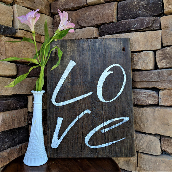 L O V E - Graceful Journey Co. Sagewood Sign Co unique gift idea, barn board signs, jewelry, mom essentials, farmhouse style, simplify your life, Premier Designs