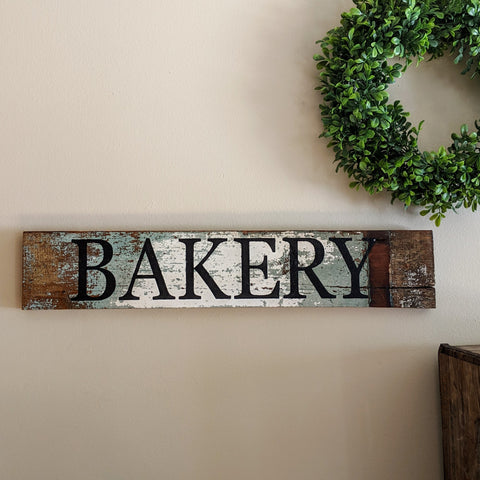 Bakery in weathered wood - Graceful Journey Co. Sagewood Sign Co unique gift idea, barn board signs, jewelry, mom essentials, farmhouse style, simplify your life, Premier Designs