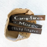 Campfire Smores Sticky Fingers Trio - Graceful Journey Co. Sagewood Sign Co unique gift idea, barn board signs, jewelry, mom essentials, farmhouse style, simplify your life, Premier Designs