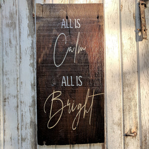 Calm and Bright - Graceful Journey Co. Sagewood Sign Co unique gift idea, barn board signs, jewelry, mom essentials, farmhouse style, simplify your life, Premier Designs