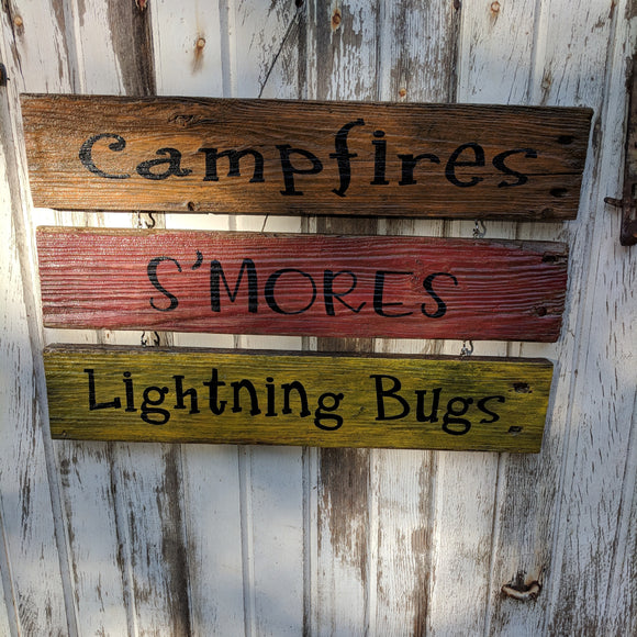Campfire Trio - Graceful Journey Co. Sagewood Sign Co unique gift idea, barn board signs, jewelry, mom essentials, farmhouse style, simplify your life, Premier Designs