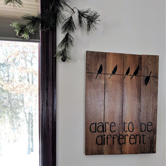 Dare to Be Different - Graceful Journey Co. Sagewood Sign Co unique gift idea, barn board signs, jewelry, mom essentials, farmhouse style, simplify your life, Premier Designs