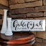 Hallelujah - Graceful Journey Co. Sagewood Sign Co unique gift idea, barn board signs, jewelry, mom essentials, farmhouse style, simplify your life, Premier Designs