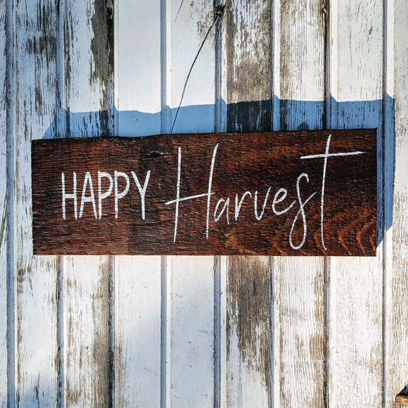 Happy Harvest - Graceful Journey Co. Sagewood Sign Co unique gift idea, barn board signs, jewelry, mom essentials, farmhouse style, simplify your life, Premier Designs