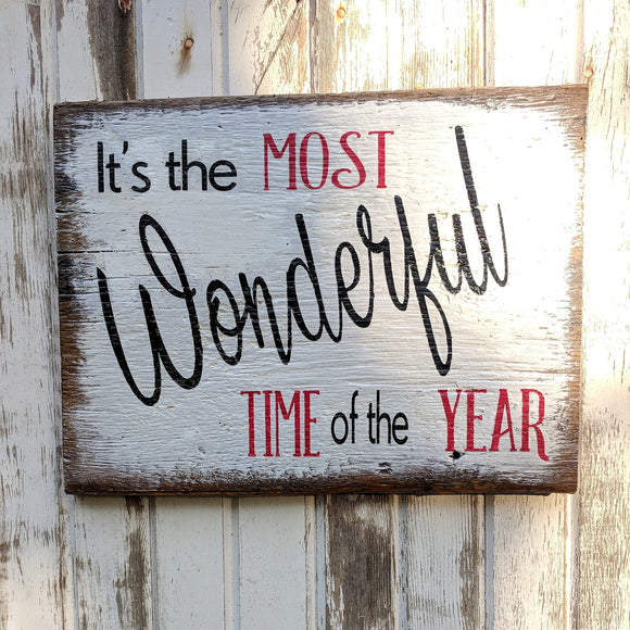 Most Wonderful Time - Graceful Journey Co. Sagewood Sign Co unique gift idea, barn board signs, jewelry, mom essentials, farmhouse style, simplify your life, Premier Designs