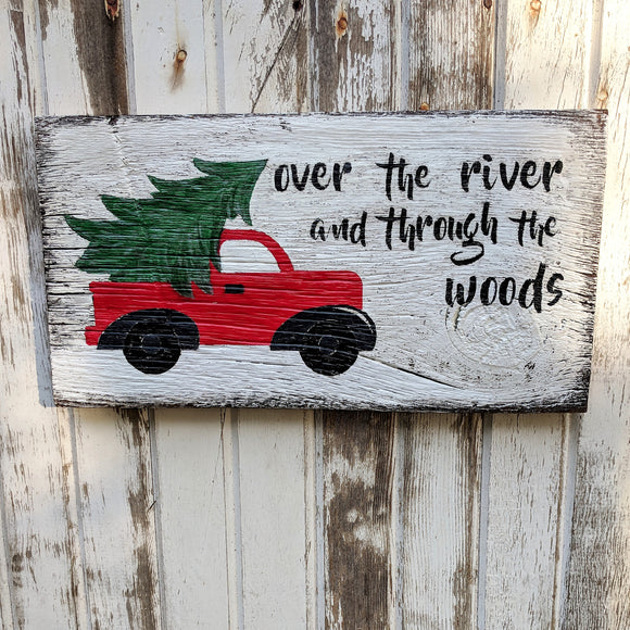Over the River - Graceful Journey Co. Sagewood Sign Co unique gift idea, barn board signs, jewelry, mom essentials, farmhouse style, simplify your life, Premier Designs